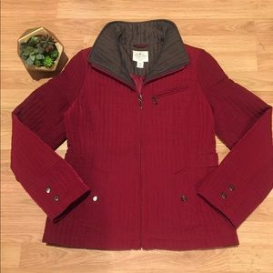 ST. JOHN'S BAY Burgundy Quilted Jacket